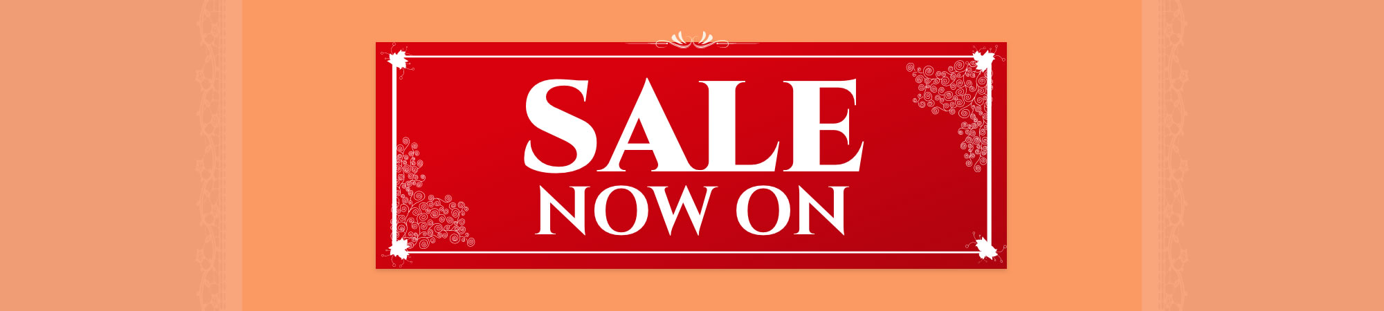 Sale Now On Banner