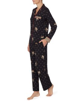 DKNY Black Leopard PJ Set