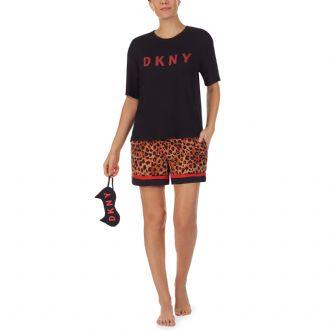DKNY Logo T-Shirt Boxer and Eye Mask Gift Set - Copy