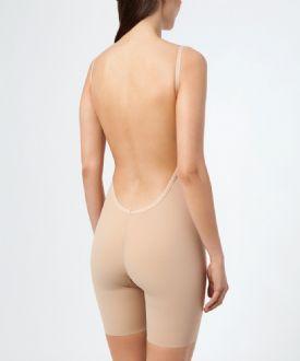 Plunge front low back bodysuit