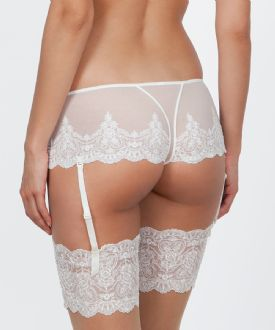 Bridal Shorty with Suspenders