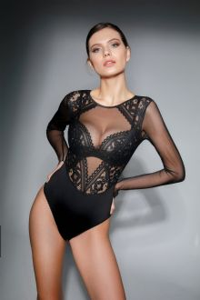 Jolidon Open Busted Lace Bodysuit